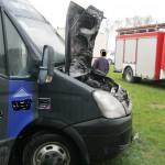 Pożar busa na oczach kierowcy