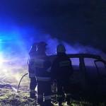 Pożar auta w Ociążu