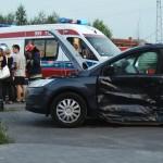 Wypadek Strzelecka/Klasztorna. Złamali słup