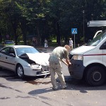 Zderzenie przy parku, kierowca uciekł