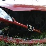 Zderzenie czeskiego busa z Peugeotem