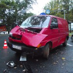 Zderzenie busa z TIR-em w Antoninie