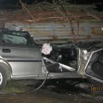 Kierowca zakleszczony po zderzeniu z traktorem
