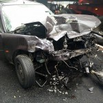 Czołówka w Antonie. Z auta wypadł silnik