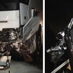 Czołowe zderzenie autokaru z osobówką