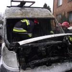 Pożar busa na Langiewicza