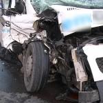 Wypadek w Ociążu. Na drodze butle z gazem
