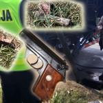 Znaleziono policyjną broń na Al. Słowackiego