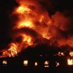 Pożar kurnika w Chynowej