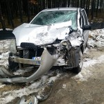 Kolejny wypadek przy budowie obwodnicy. Ciężarówka z Toyotą Yaris