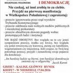 Manifestacja KOD w Kaliszu. Zapowiedź