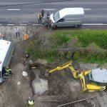 Wielkie niebezpieczeństwo. Znowu uszkodzili gazociąg! (wideo z drona)