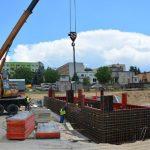 Konkretny etap budowy basenu przy Paderewskiego