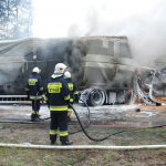 Spłonęły dwa TIR-y. Nie żyje mieszkaniec naszego powiatu