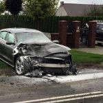 Audi mocno uderzyło w tył ciężarówki. Kierowca pijany