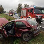 Wypadek w Sobótce w sobotni poranek