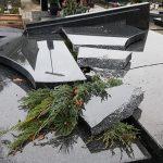 Wandal niszczył groby bez powodu