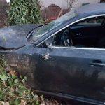 BMW przeleciał przez rondo na Grabowskiej