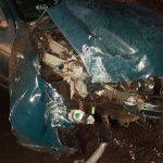 Renault Megane roztrzaskało się na latarni