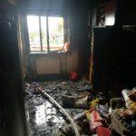 Pożar bloku w Strzyżewie