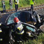 Tarchały Wielkie: wypadek pociągu Intercity z samochodem (aktualizacja)