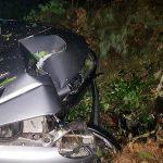 Pijani Ukraińcy rozbili się autem w lesie