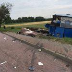 Wypadek autobusu z tirem. 10 osób rannych
