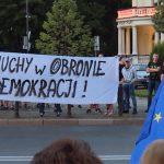 Protest przeciwników reformy sądownictwa