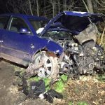 Volkswagen Passat uderzył w drzewo. 4 osoby w szpitalu
