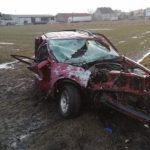 Poranny wypadek na DK36. Ranny mieszkaniec powiatu ostrowskiego