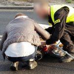 Potrącona kobieta na przejściu na ul. Krotoszyńskiej