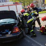 Wypadek dwóch mercedesów – Kaliska/Limanowskiego