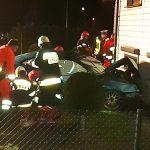 Latowice – auto uderzyło w dom