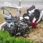 Wypadek na obwodnicy Jarocina z udziałem busa na POS