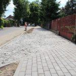 Ścieżka rowerowa na Piaski w budowie