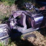 Audi z impetem uderzyło w drzewo