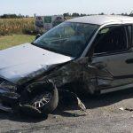 Wypadek w Ociążu. Mitsubishi wjechał w ciężarówkę