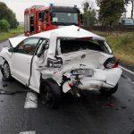 Zderzenie 4 aut w Górznie