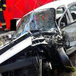 Czołowe zderzenie Fiata i Citroena ze skutkiem śmiertelnym