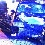 Zderzenie 3 aut w Odolanowie – 2 os. ranne