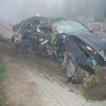 Ukrainiec rozbił Mercedesa. Był pijany