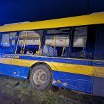 Wypadek autobusu z samochodem ciężarowym w Czekanowie (aktualizacja)