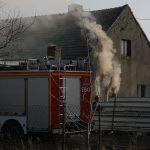 Pożar domu w Ociążu
