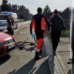 Potrąciła księdza rowerzystę