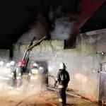 Pożar w Ołoboku. 8 zastępów w akcji