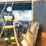 Pożar garażu pod Ostrowem
