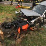 Pierwszy wypadek motocyklisty w tym sezonie