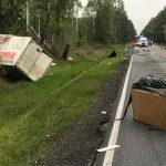 Zderzenie dwóch aut dostawczych Antonin – Międzybórz