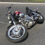 Wypadek motocyklisty k. Antonina