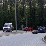 Wypadek motocykla z autem w m. Mazury